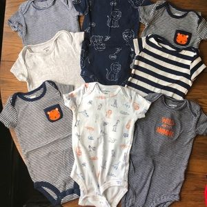 Carter's Lion Themed Onesies (8)